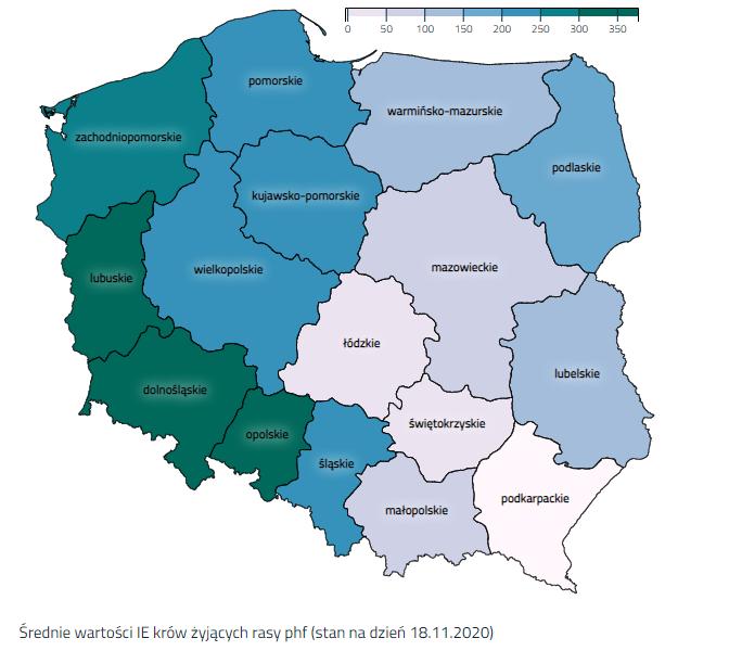 Sprawdź wartości IE oraz indeksów rodowodowych w swoim województwie