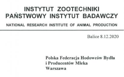 Instytut Zootechniki potwierdza opóźnienie w przekazaniu wyników grudniowej oceny